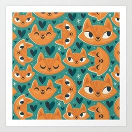 Cats Cats Cats! Art Print