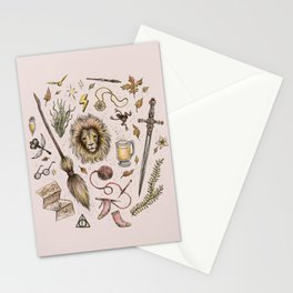 Gryffindor, Courageous and Brave! Stationery Cards