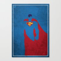 man of steel Canvas Prints featuring Man of Steel by Pancho Blanco