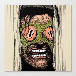Shining Eye Holes Canvas Print