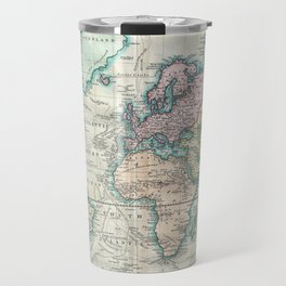 Vintage Map of The World (1801) Travel Mug