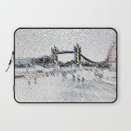 Tower bridge and Southbank London Laptop Sleeve