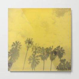 Yellow Palms Metal Print