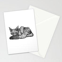 Black-backed jackal - Canis mesomelas Stationery Cards