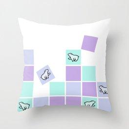 polar bear sqaures Throw Pillow