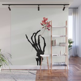 Skeleton Hand with Flower Wall Mural