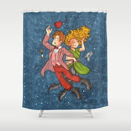 Doctor and River in Space Shower Curtain