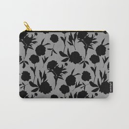 Peony Silhouettes Noir Carry-All Pouch