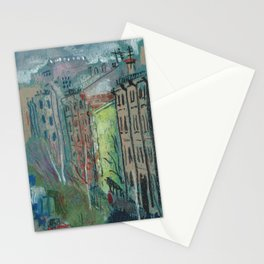 Street View Saint Petersburg Cityscape Oil Pastel Painting Stationery Cards