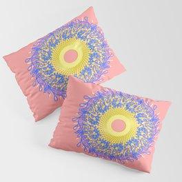 Mandala #105, Peach and Sunshine Pillow Sham