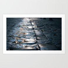 Wet Streets Art Print