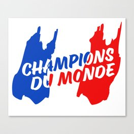 World Champions French Soccer Football Canvas Print
