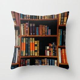 The Bookshelf (Color) Throw Pillow