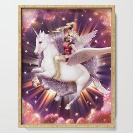 Andora: Drag Queen Riding a Unicorn Serving Tray