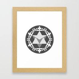 Merkaba Krown  Framed Art Print