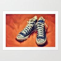 Denver Bronco Chucks Art Print