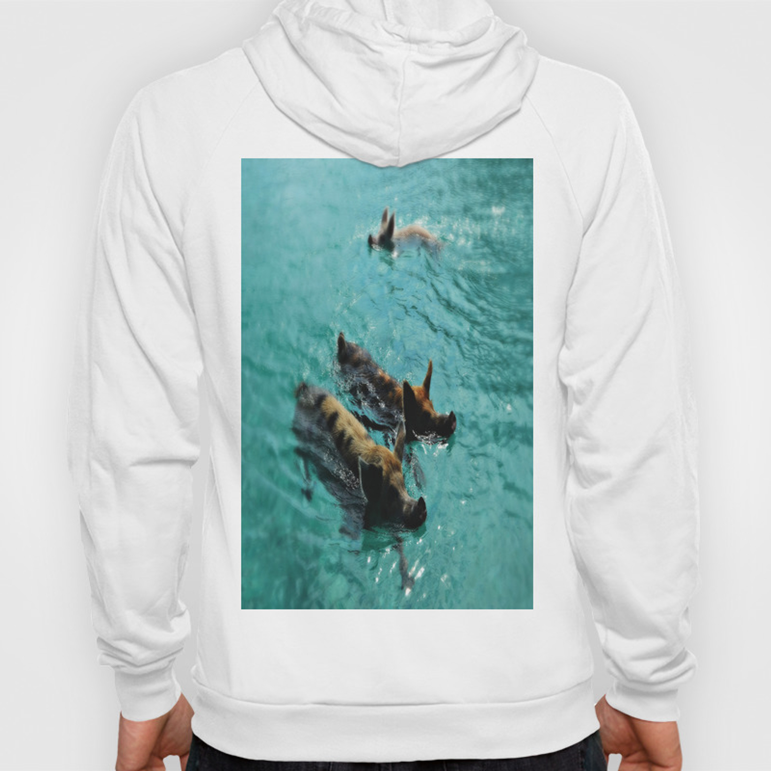 Swimming Pigs In The Exumas, Bahamas, Caribbean Hoody by epicureculture