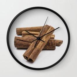cinnamon sticks - spice Wall Clock