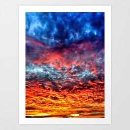 Red Sky at Night, Sailor's Delight Art Print