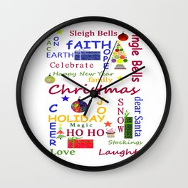 Christmas Message Wall Clock