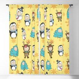 Children Christmas Costumes Pattern 3 Blackout Curtain