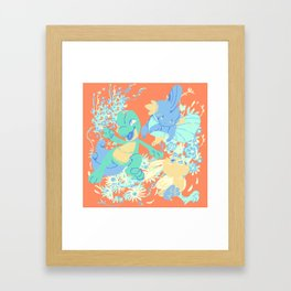 Hoenn starters Framed Art Print