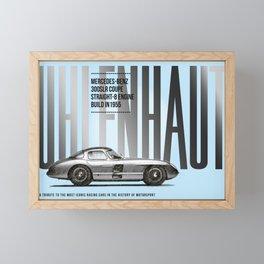 300 SLR Uhlenhaut Coupe Tribute Framed Mini Art Print