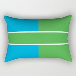Team Color 6...Light blue,green Rectangular Pillow