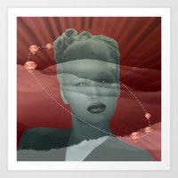 diamonds Art Prints featuring diamonds by Rosa Picnic