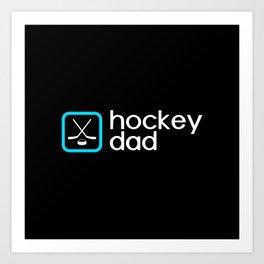 Hockey Dad (Blue) Art Print