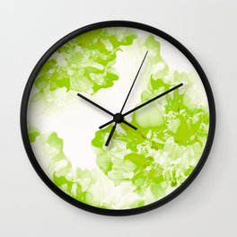 Beautiful Peony Flowers White Background Pastel Green Version #decor #society6 Wall Clock