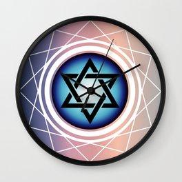 Jewish Star of David Wall Clock
