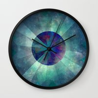 twilight Wall Clocks featuring Twilight  by SensualPatterns