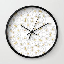 Daisy Chain white Wall Clock