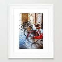 bicycles Framed Art Prints featuring Bicycles by Elliott's Location Photography