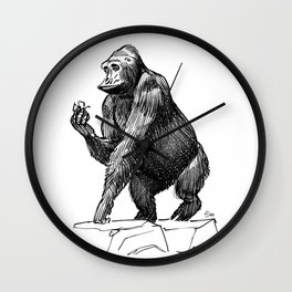 Gorilla, Lille, France. Wall Clock