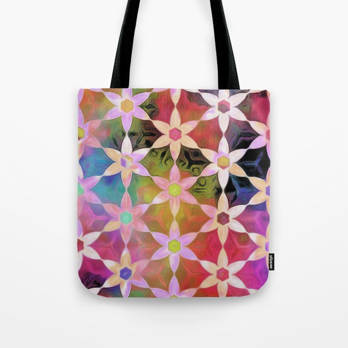 Rainbow Daisy Chain Tote Bag
