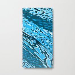 Water Skinning Metal Print