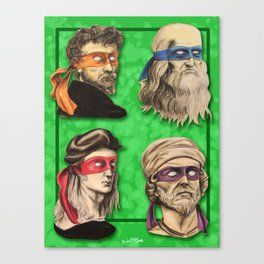 Renaissance Mutant Ninja Artists Canvas Print