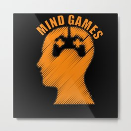 Mind Games Gaming Design Metal Print