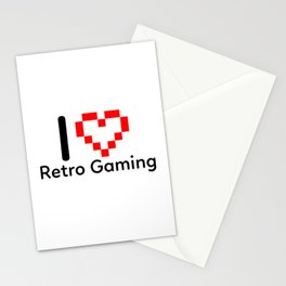 I Love Retro Gaming Stationery Cards
