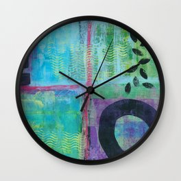 Falling Leaves Wall Clock
