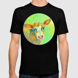 Summer Cow - colorful digital illustration T-shirt