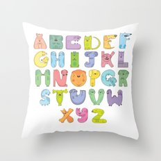 Dogs alphabet Throw Pillow