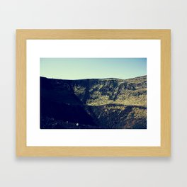 Mouth of the Volcano Framed Art Print