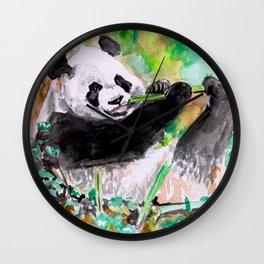 Panda lovin' Wall Clock