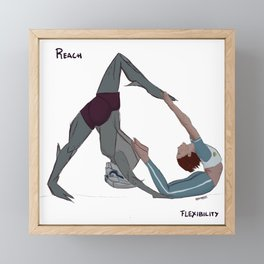 Reach and Flexibility Framed Mini Art Print