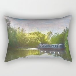 On The Avon A Digital Painting Rectangular Pillow