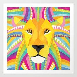 Shanti Sparrow: Marley the Lion Art Print