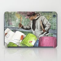 drums iPad Cases featuring Drums in the street by aurora villaviejas